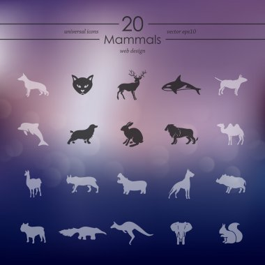 Set of mammals icons