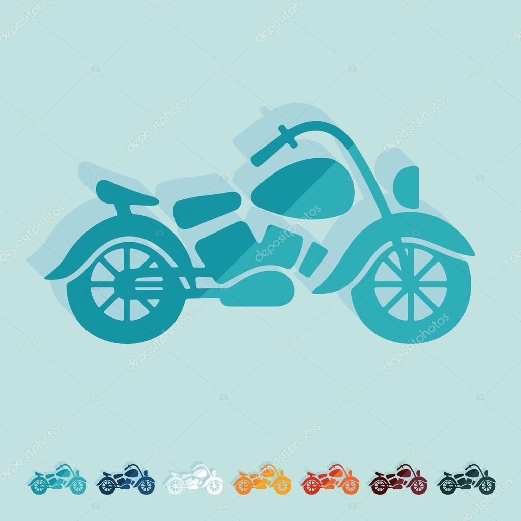 Motorrad einfaches Symbol — Stockvektor © Palau83 #119451396