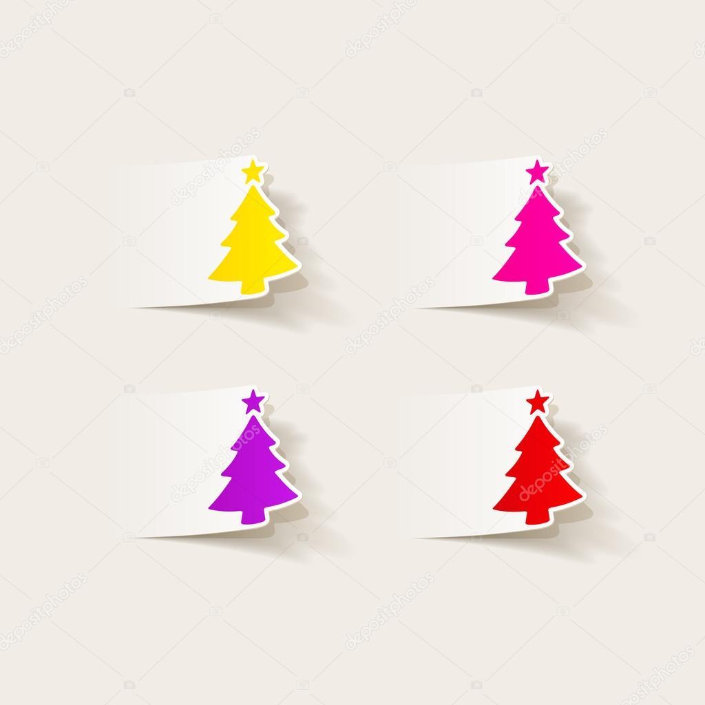 Arvores De Natal No Desenho Realista Vetor De Stock C Palau83
