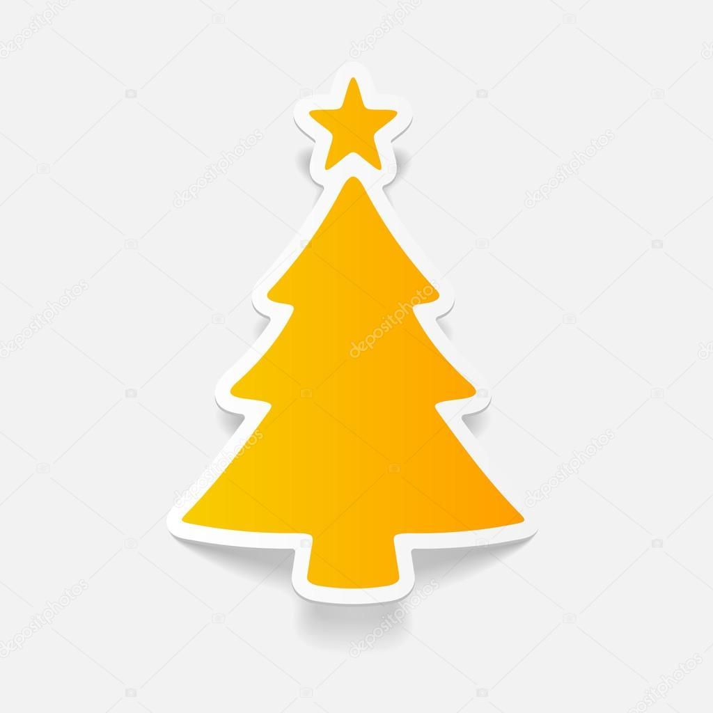 Árvore De Natal No Desenho Realista