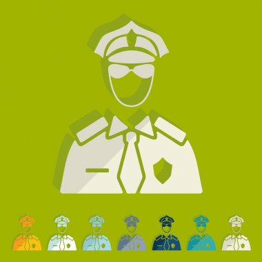 Police officer icons