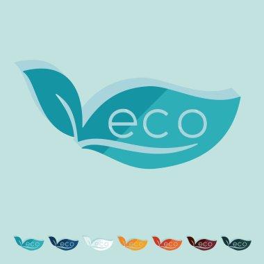 Eco sign leaf icon