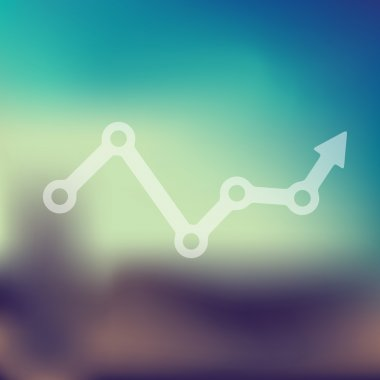 Chart icon on blurred background stock vector