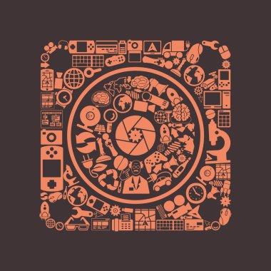 Dynamic icon. Vector illustration