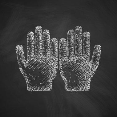 Hand icon. Vector illustration