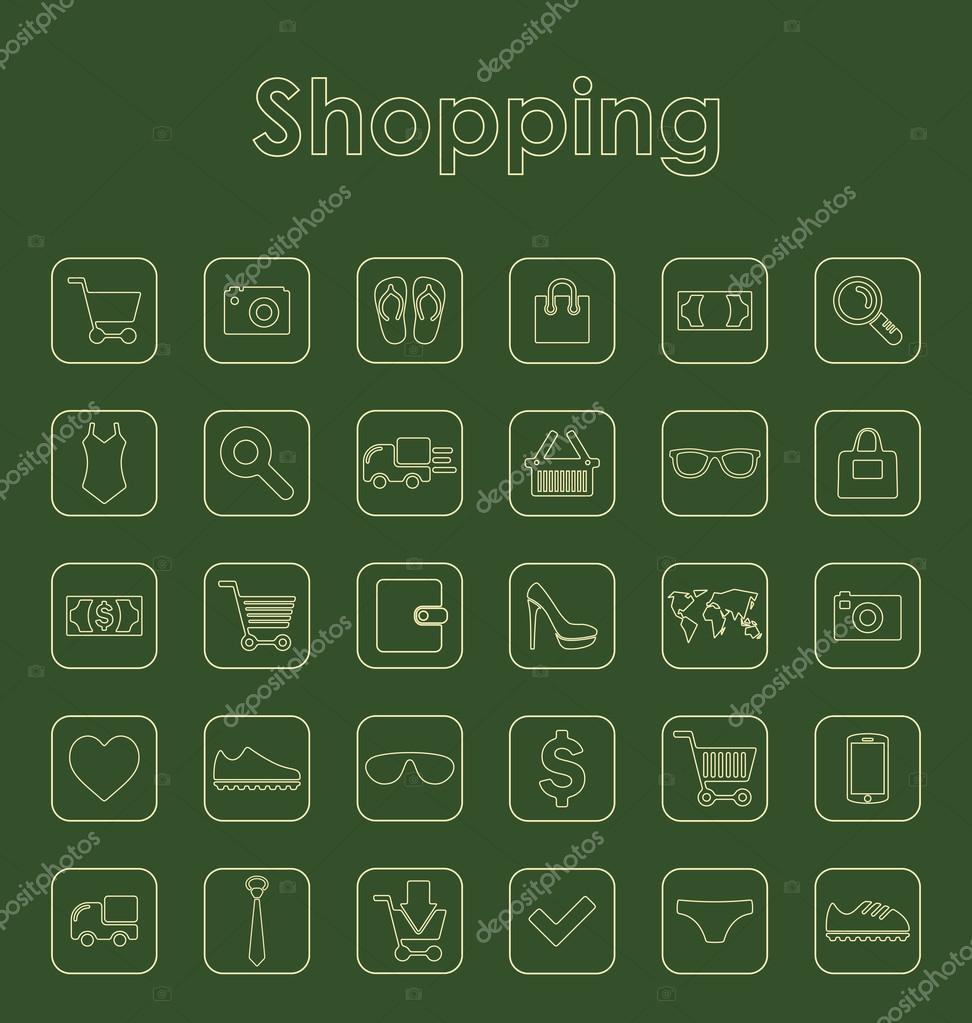 Satz von Einkaufen einfache Symbole — Stockvektor © Palau83 #64238007