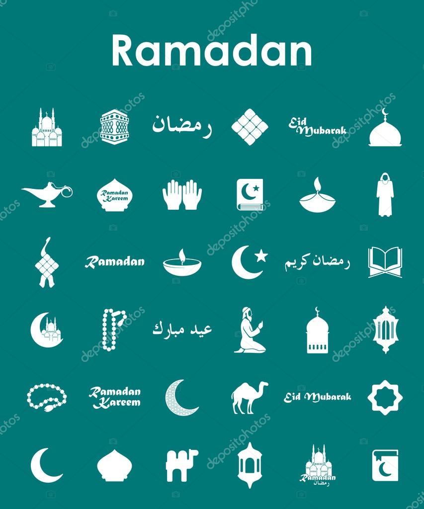 Satz von Ramadan einfache Symbole — Stockvektor © Palau83 #64239153