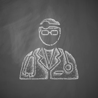 Doctor icon on chalkboard