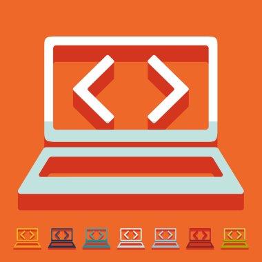 Flat design, programming