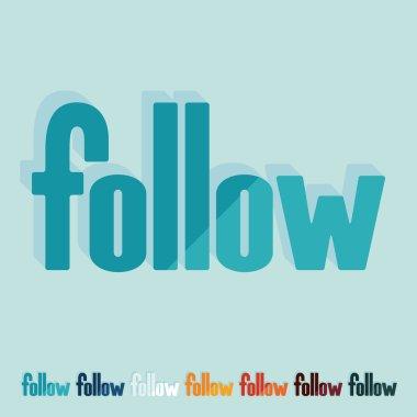 Flat design, follow