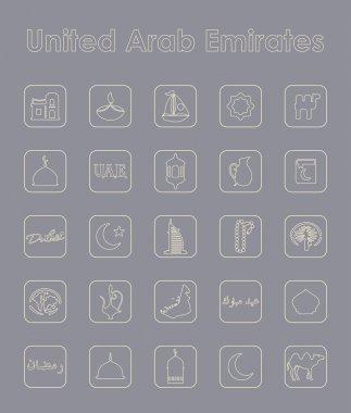 United Arab Emirates simple icons