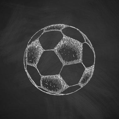 Ball icon on chalkboard