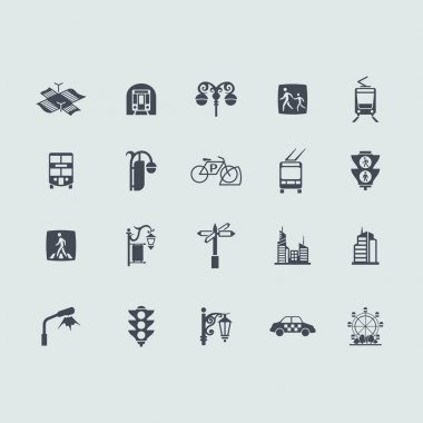 Set of city icons