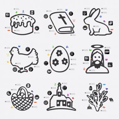 Easter infographic with icons