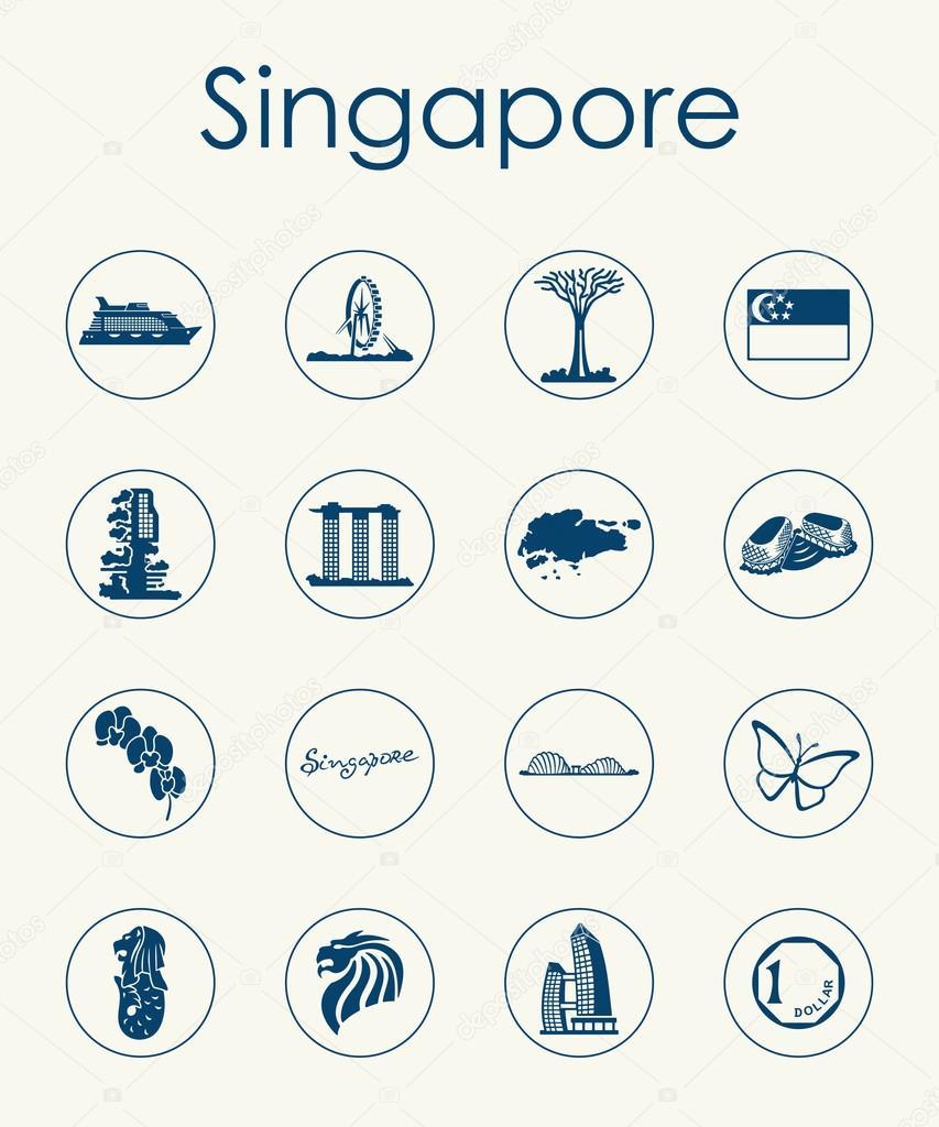 Satz von Singapur einfache Symbole — Stockvektor © Palau83 #70602337