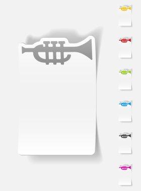 Realistic design element, trumpet