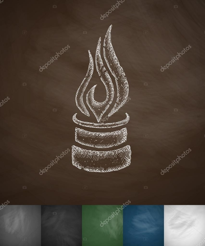pipe with a flame icon