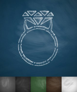 Ring icon on chalkboard