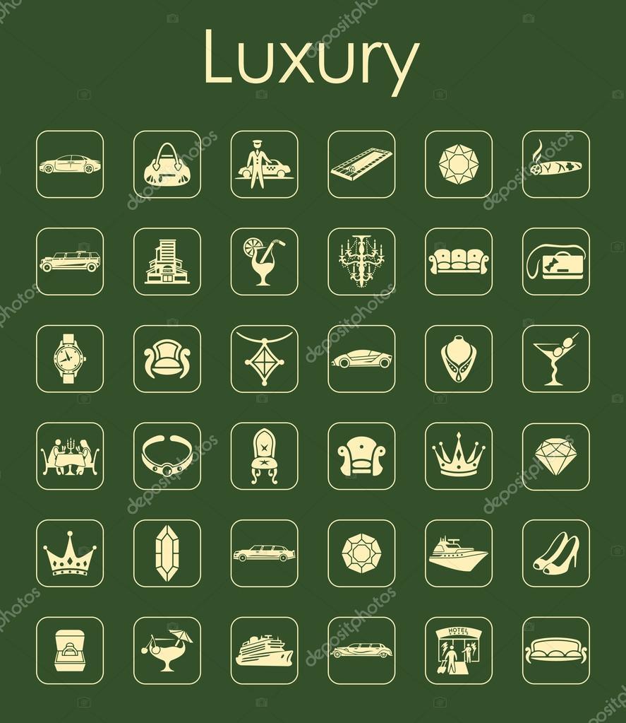 Satz von Luxus einfache Symbole — Stockvektor © Palau83 #72595867