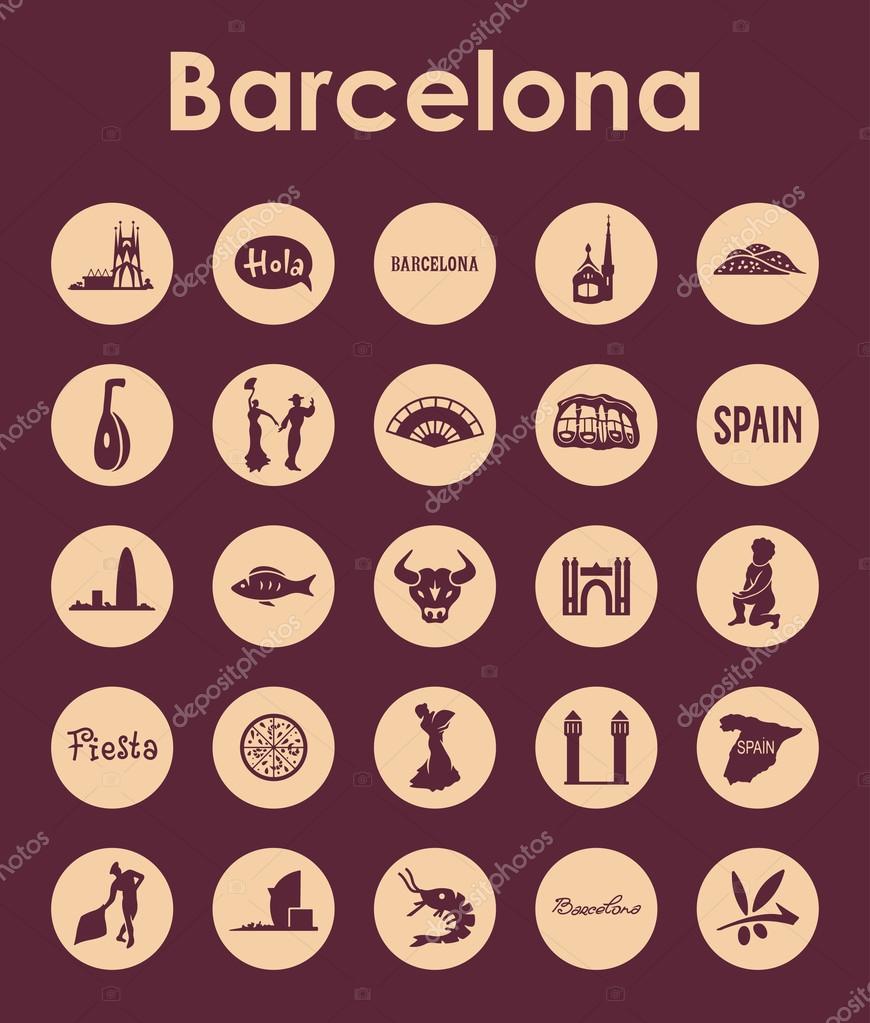 Satz von Barcelona einfache Symbole — Stockvektor © Palau83 #72597859