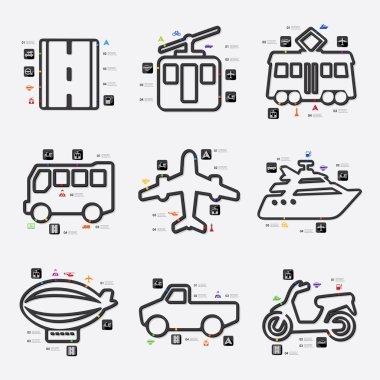 Transport infographic illustration