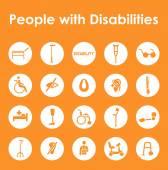 Fotografie disabilities simple icons