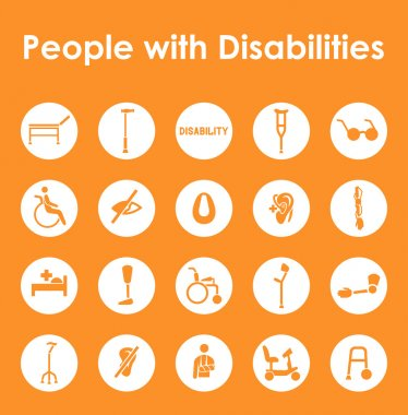 disabilities simple icons