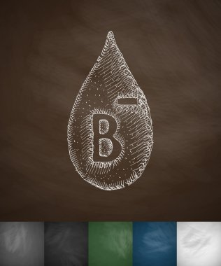 drop of blood B- icon