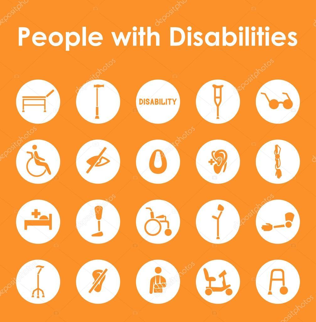 Behinderungen einfache Symbole — Stockvektor © Palau83 #77060931