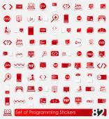 Photo Set of programming stickers