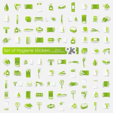 Set of hygiene stickers