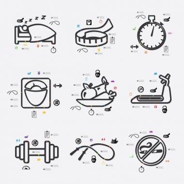Diet infographic illustration