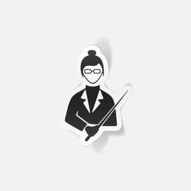 Realistic design teacher icon