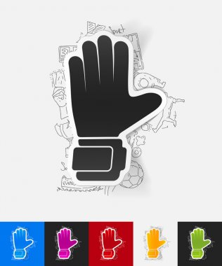 Gloves paper sticker
