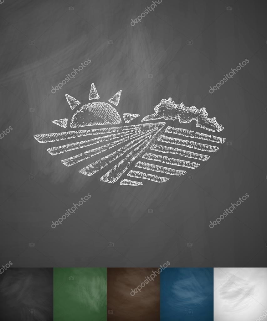 agricultural landscape icon