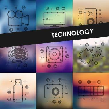 technology timeline infographics