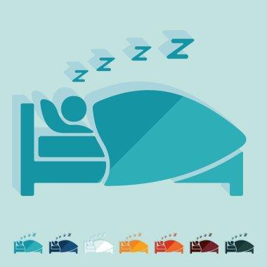 Flat design: sleep