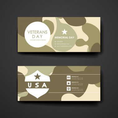 Poster design in veterans day style