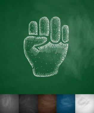 fist sketch icon