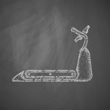 Hand drawn treadmill icon