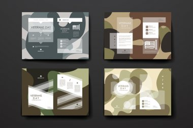 Poster templates in veterans day style