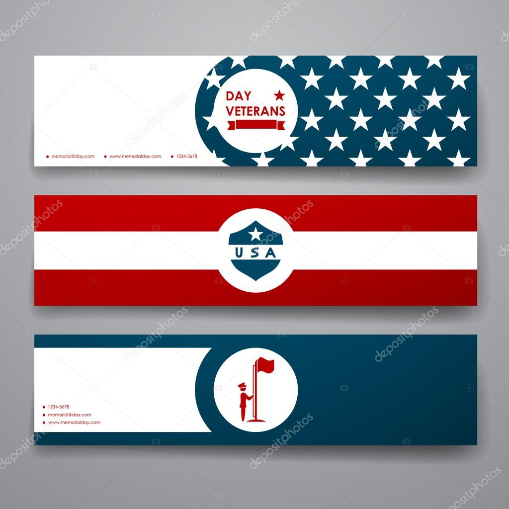 Banner template in veterans day style