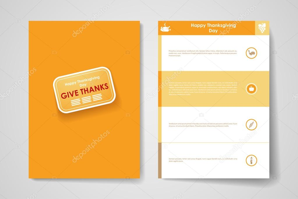 Poster design templates in autumn style