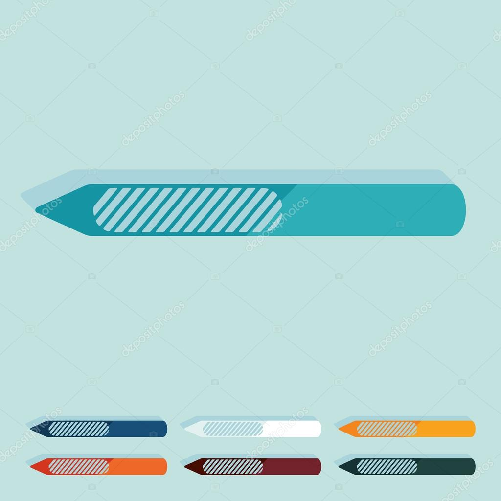 Flache Gestaltung: Nagelfeile — Stockvektor © Palau83 #91723398