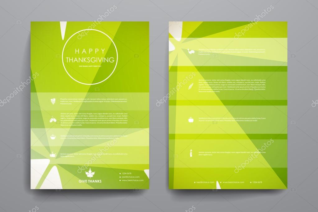 Set of brochures in autumn style