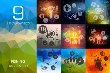 fishing infographic icons