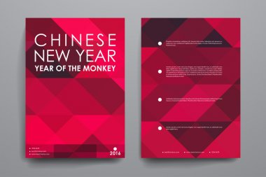 Set of Chinese New Year brochures