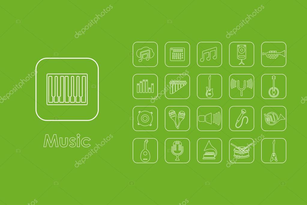 Satz von Musik einfache Symbole — Stockvektor © Palau83 #99129478