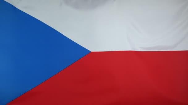 Česká republika vlajka skutečné tkaniny zblízka