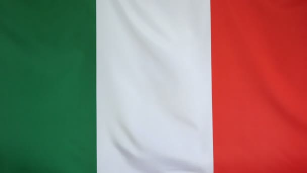 Italy Flag real fabric Close up